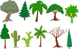 Various tree collection stock illustration