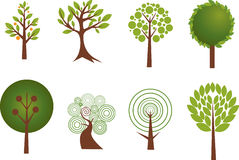 Various tree designs Royalty Free Stock Photo