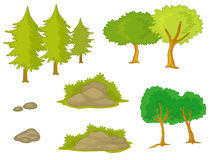 Various trees and plants Royalty Free Stock Photo