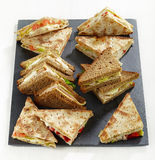 Various triangle sandwiches Stock Image