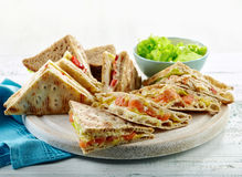 Various triangle sandwiches Stock Images
