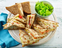 Various triangle sandwiches Royalty Free Stock Images