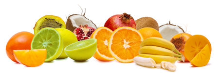 Various tropical fruits Stock Photography