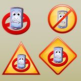 Various turn off hand phone icon/symbol Stock Photos