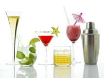 Cocktails And Alcoholic Drinks Royalty Free Stock Photo