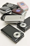 Various type of cellphone Royalty Free Stock Photography