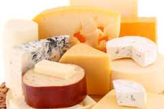 Various type of cheese Stock Photography