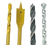Various Type Of Drill Bits II Stock Photos