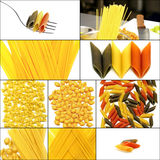 Various type of Italian pasta collage Stock Photography