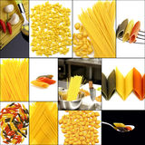 Various type of Italian pasta collage Royalty Free Stock Photography