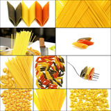 Various type of Italian pasta collage Royalty Free Stock Photo