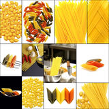 Various type of Italian pasta collage Stock Images