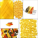 Various type of Italian pasta collage Royalty Free Stock Image