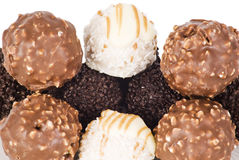 Various types ball chocolate royalty free stock image