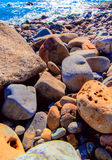 Various types of beach stone. Japan Asia stock images