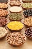 Various types of beans. Stock Photos