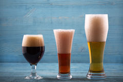 Various types of beer royalty free stock photography