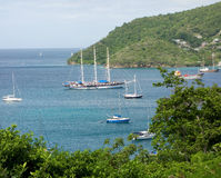 Various types of boats at admiralty bay Royalty Free Stock Photos
