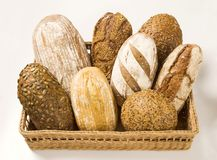 Various types of bread Stock Photography