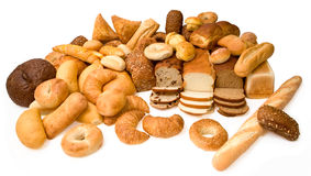 Various Types of Bread Royalty Free Stock Photos