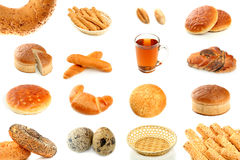 Various types of bread stock photo
