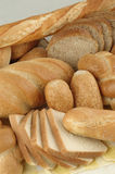 Various types of bread. Arrangement of various types of bread Royalty Free Stock Photos