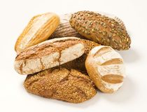 Various types of bread Stock Image
