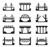 Various types of bridges Royalty Free Stock Image