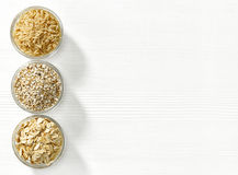 Various types of cereal grains Stock Images