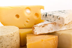 Various types of cheese Stock Images