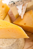 Various types of cheese Royalty Free Stock Images