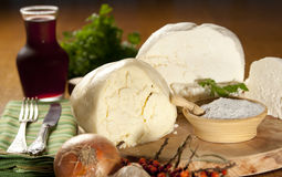 Various types of cheese. Various types of fresh romanian traditional white cheese Royalty Free Stock Photos