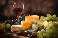 Various types of cheese composition royalty free stock image