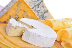 Various types of cheese composition isolated Stock Image