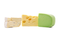Various types of cheese composition. Stock Photo