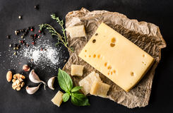 Various types cheese Stock Photography