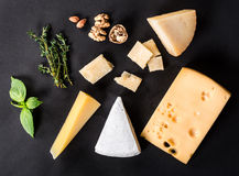 Various types cheese Stock Photos