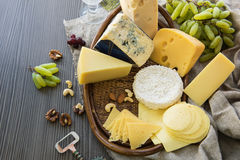 Various types of cheese set Stock Photography