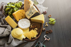 Various types of cheese set Royalty Free Stock Photography