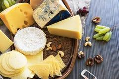 Various types of cheese set Stock Photos