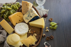 Various types of cheese set Royalty Free Stock Photo