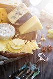 Various types of cheese set Stock Photo