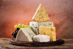 Various types of cheese. Still-life stock image