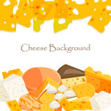 Various types of cheese vector illustration. Various types of cheese healthy holland triangle edam vector illustration. Cheese freshness gourmet slice culinary Royalty Free Stock Photography
