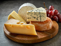 Various types of cheese Royalty Free Stock Image