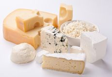 Various types of cheeses. stock photos
