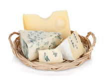 Various types of cheeses Stock Photo