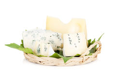 Various types of cheeses Royalty Free Stock Image