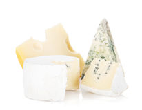 Various types of cheeses Royalty Free Stock Photography