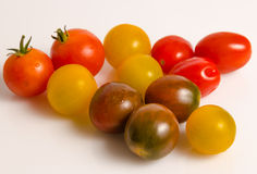 Various types of cherry tomatoes Stock Photo